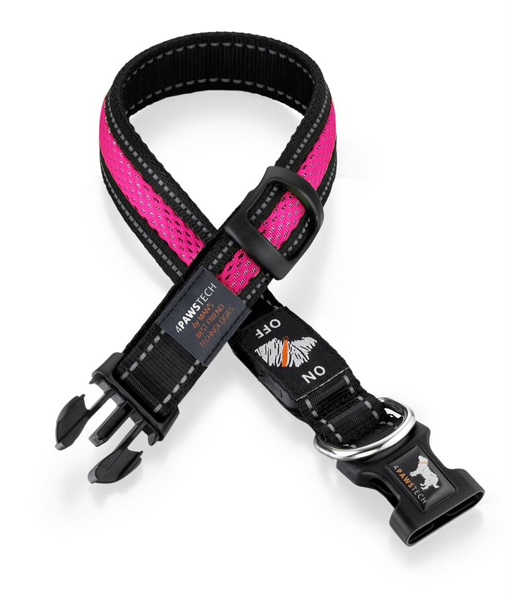 Pink NightLight LED Dog Collar | 3-Mode Flashing Collar